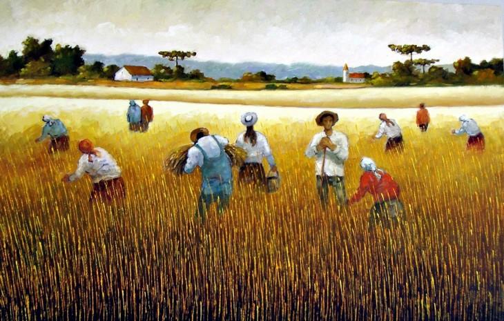 Colhendo trigo