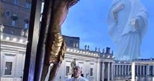 Papa rezando